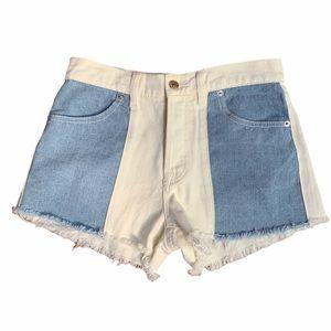 Adika Buttonfront High Rise Denim Shorts